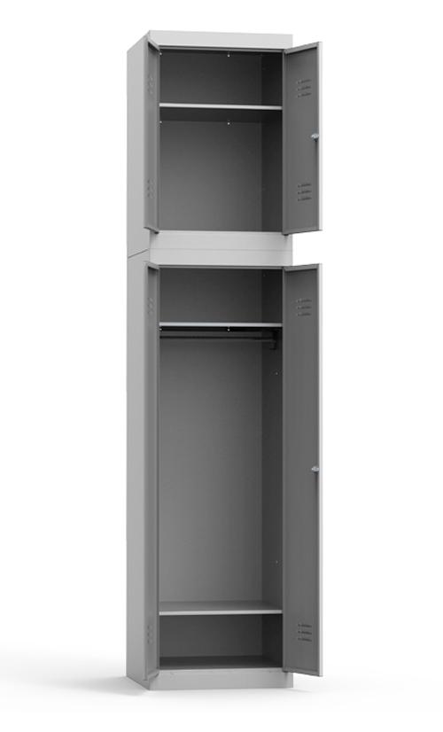 Металлический гардеробный шкаф с антресолью (на базе ШРК 22-600) купить недорого в Екатеринбурге